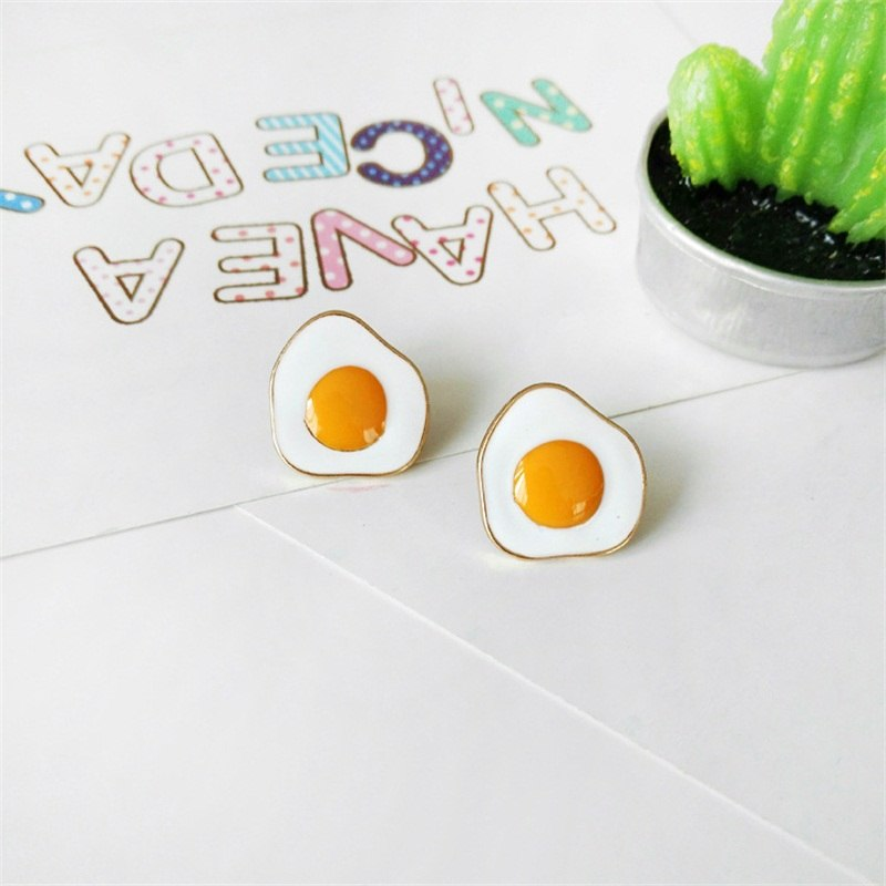 Egg Yolk Stud Earrings
