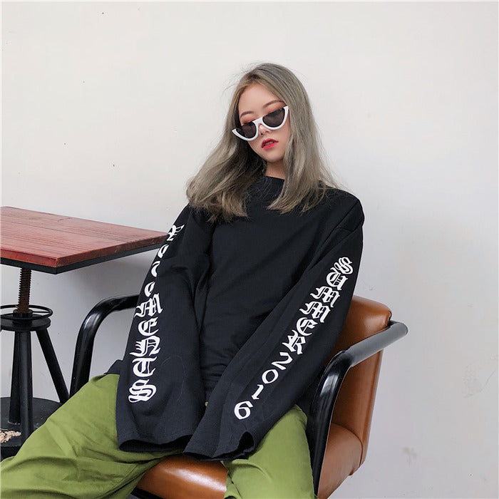 Gangnam Black Oversized Long Sleeve