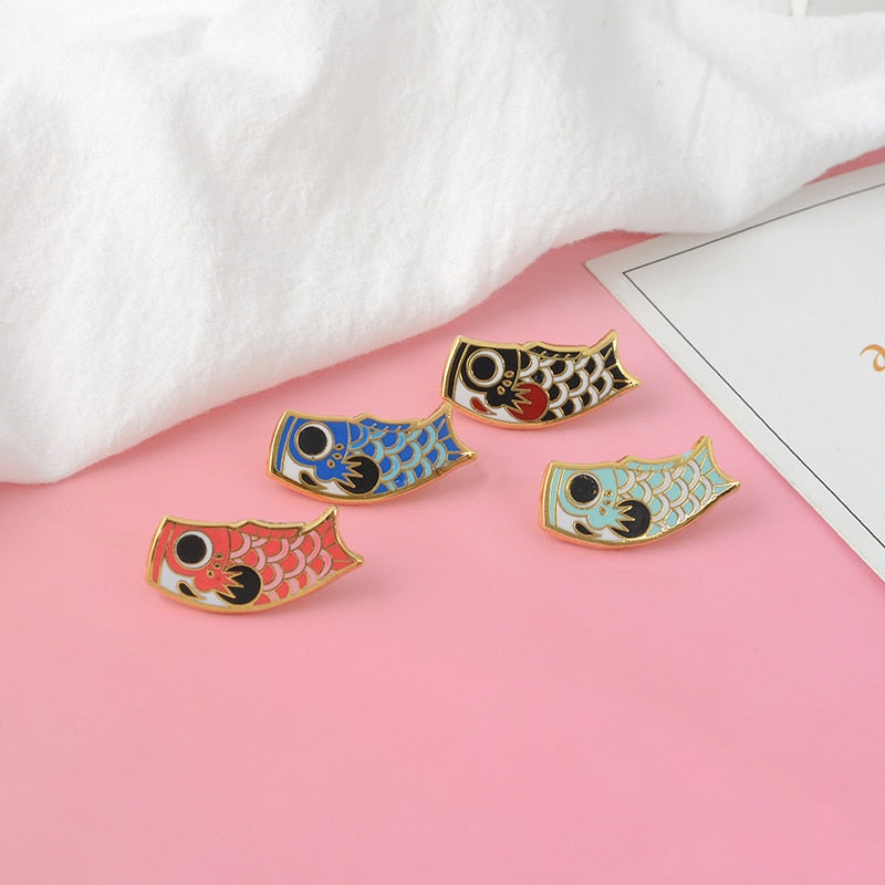 Vintage Japanese Koi Fish Pins