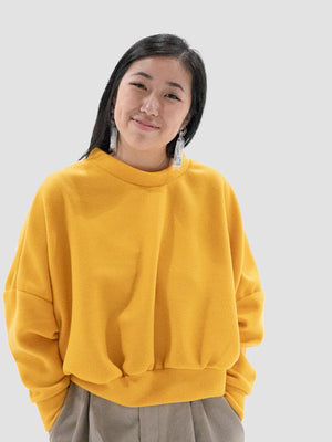 Keeping It Real Sweatshirt in Yellow