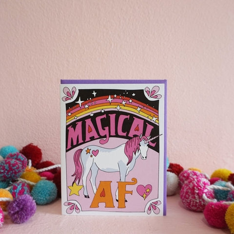 Magical AF Greeting Card