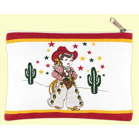 Little Cowgirl Canvas Case
