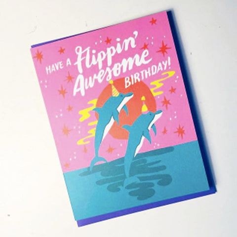 Flippin' Awesome Birthday Greeting Card