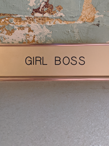 Girl Boss Deskplate