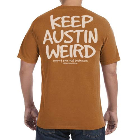 Original Keep Austin Weird Unisex Tee - Yam Wash