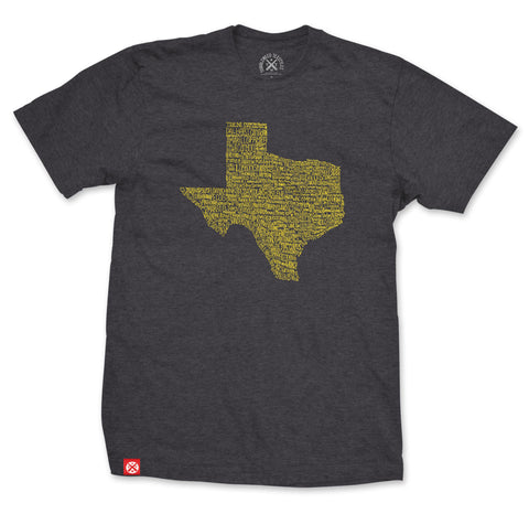 Texas Towns Unisex Tee - Antique Denim