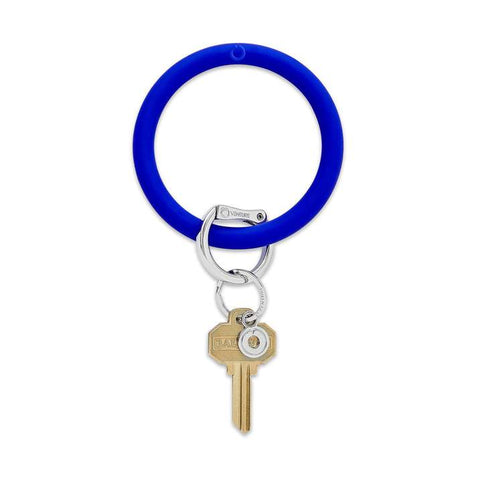 Blue Me Away Big O Silicone Key Ring
