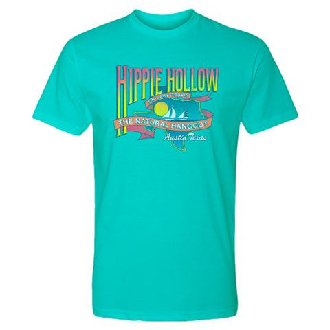 Hippie Hollow Unisex Tee - Tahitian Blue