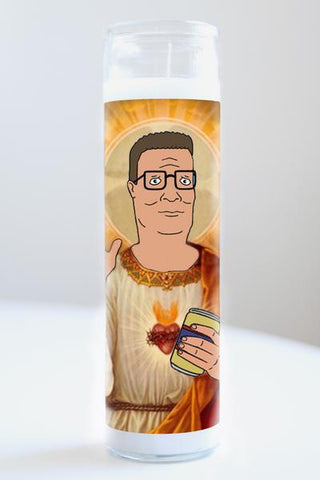 Hank Hill Illuminidol Candle