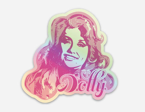 Holographic Dolly Sticker
