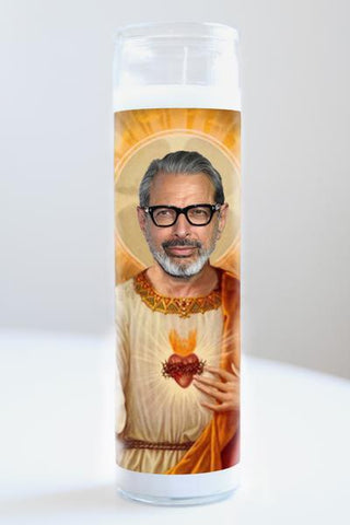 Jeff Goldbum Illuminidol Candle