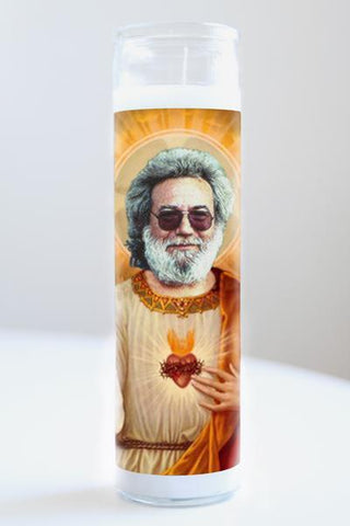 Jerry Garcia Illuminidol Candle