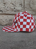 Kid's Ball Cap - Red and White Checkered