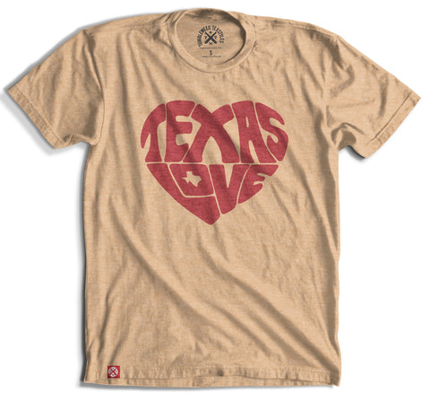 Texas Love Heart Unisex Tee