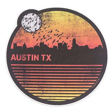 Austin Blanks Austin Skyline Round Sticker