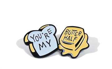 Austin Blanks You're my Butter Half Lapel Pin
