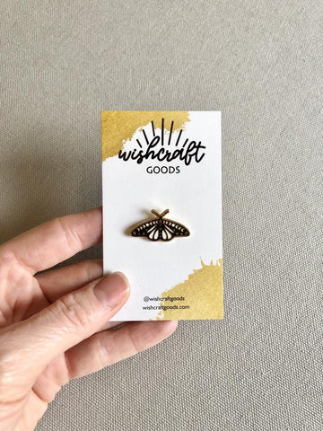 Cosmic Moth Enamel Pin