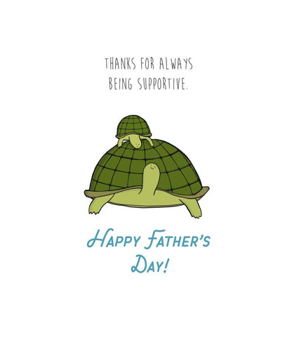 Turtle Father's Day Card