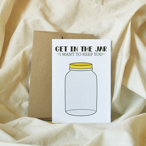 Get in the Jar Greeting Card