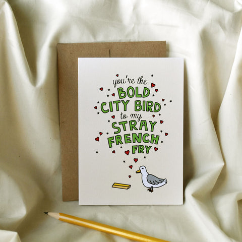Bold City Bird Greeting Card
