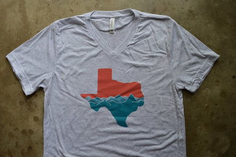 Texas Mountains Unisex V-Neck Tee