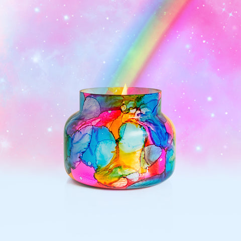 Volcano Rainbow Watercolor Signature Jar Candle
