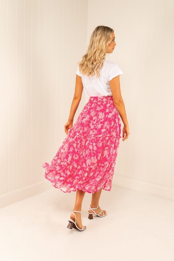 Palm Noosa Silk Chiffon May Skirt