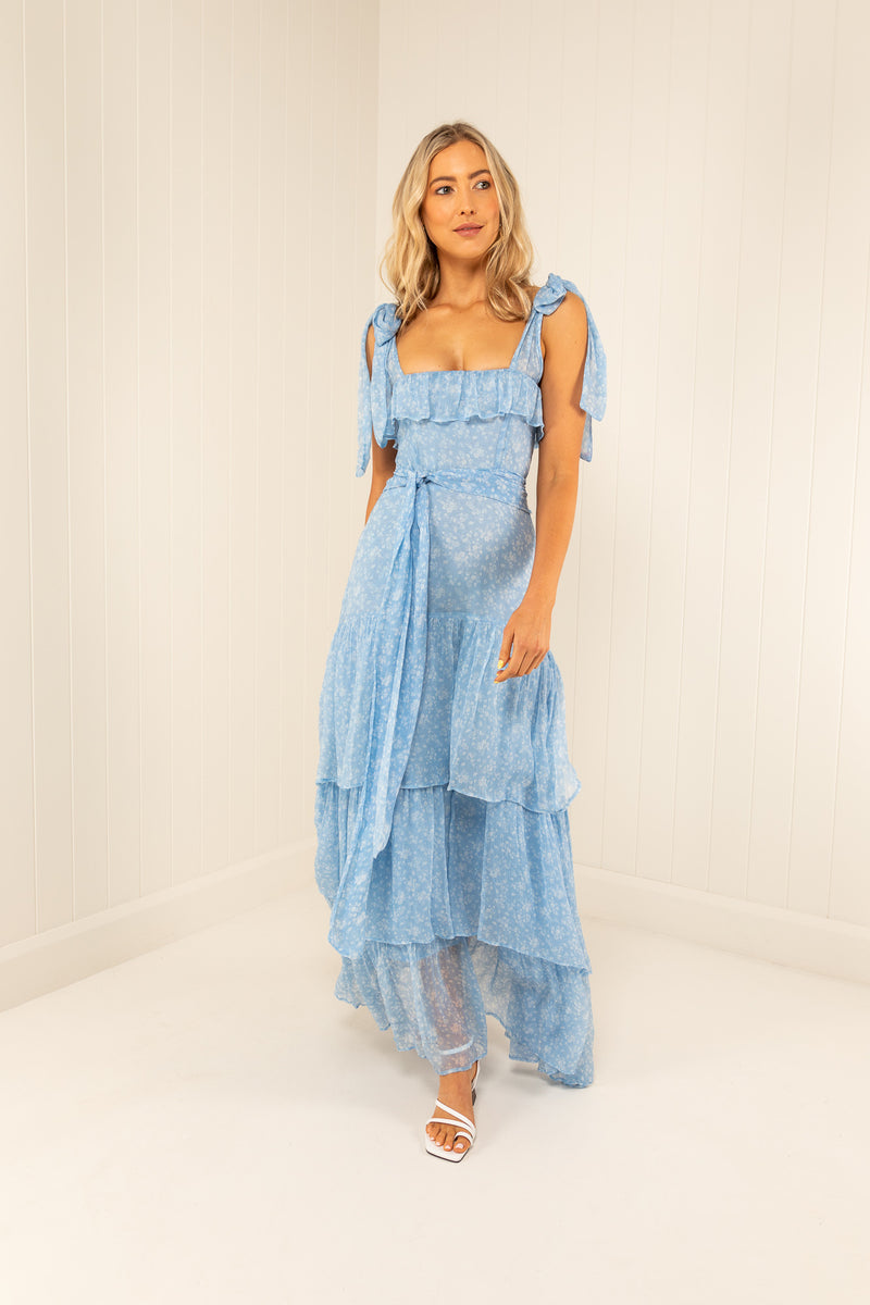 Palm Noosa Silk Chiffon Cleopatra Dress