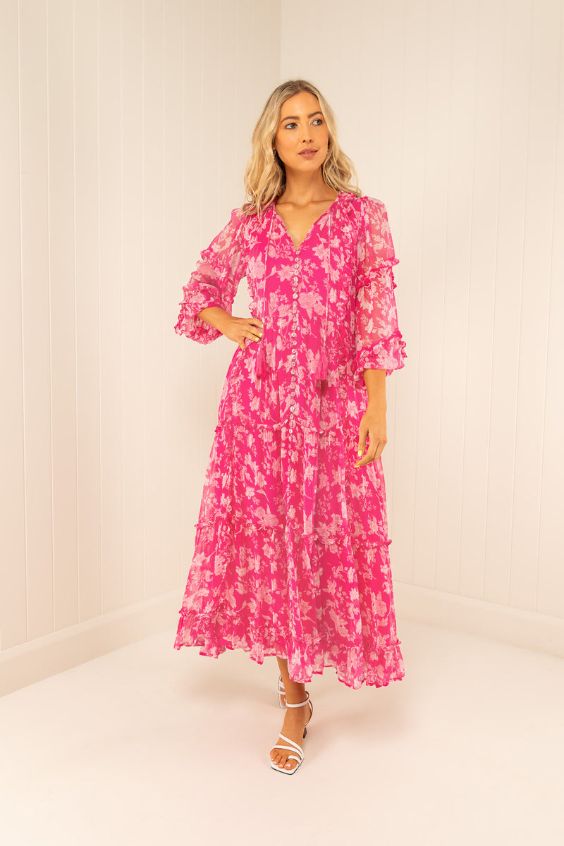 Palm Noosa Silk Chiffon Beatrix Dress