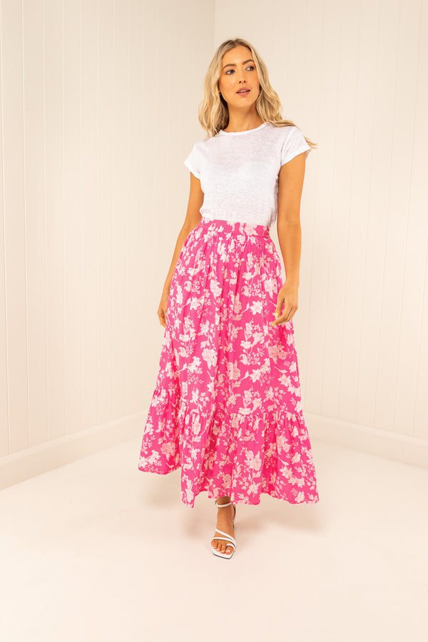 Palm Noosa Cotton Audrey Skirt with sash belt