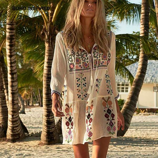 In the Sun Embroidered Dress