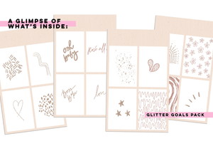 Glitter Goals Sticker Pack