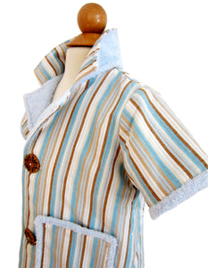 Lil' Win Aqua Stripe Cabana Set