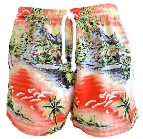 Tropical Seascape Swim Trunks