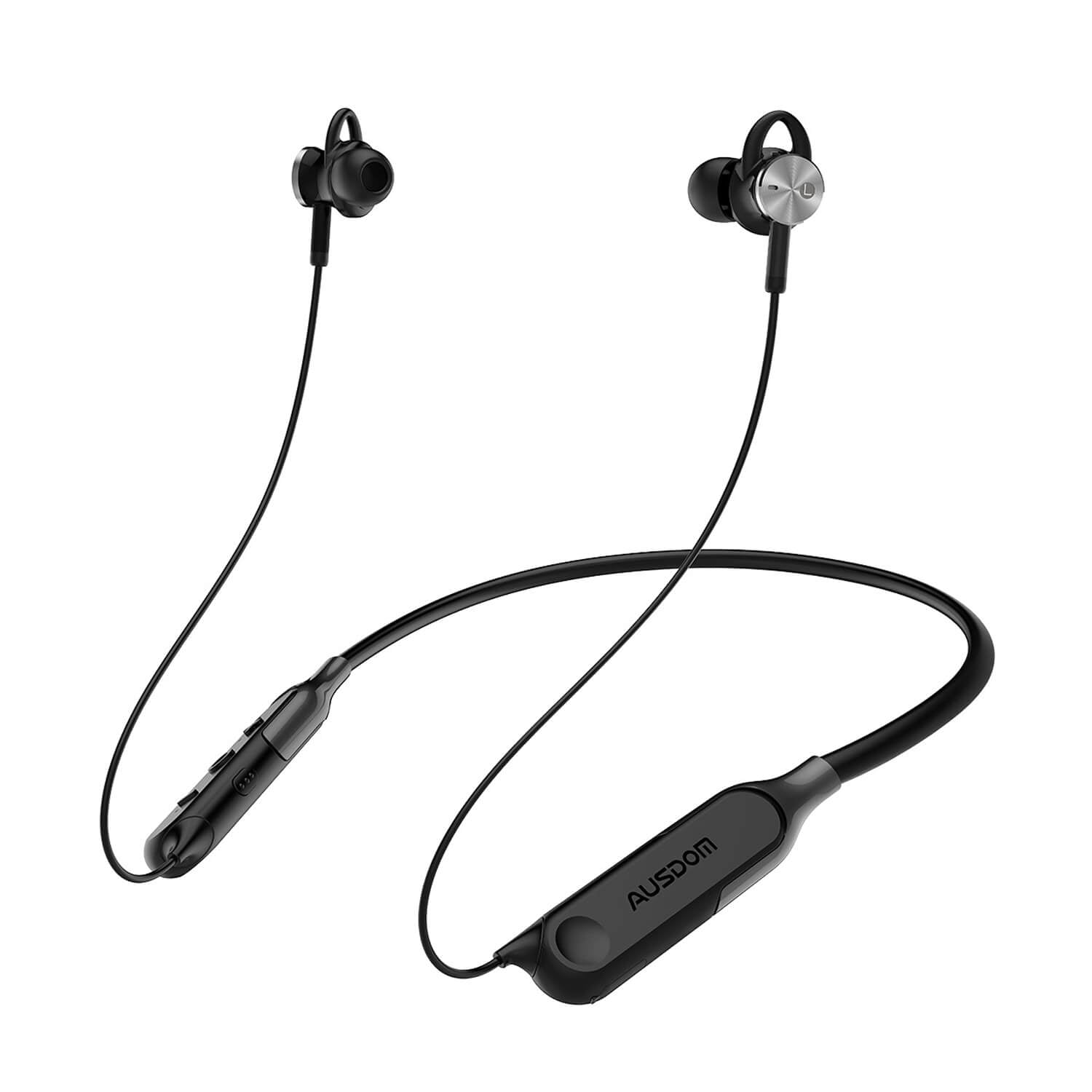 Ausdom AH01 Active Noise Cancelling  Wireless Bluetooth Earphones with Magnetic Design