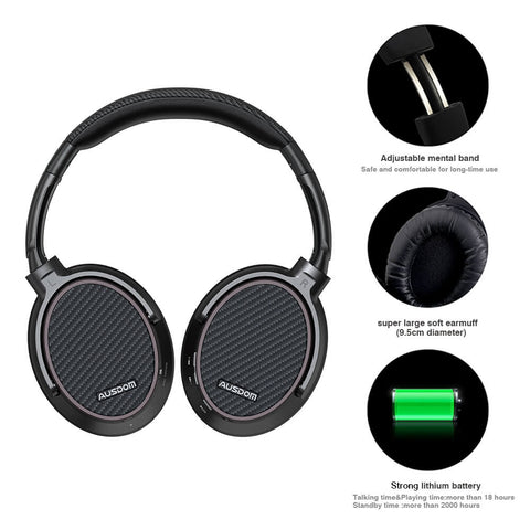 AUSDOM ANC7S Active Noise Cancelling Over-Ear Wireless Headphones