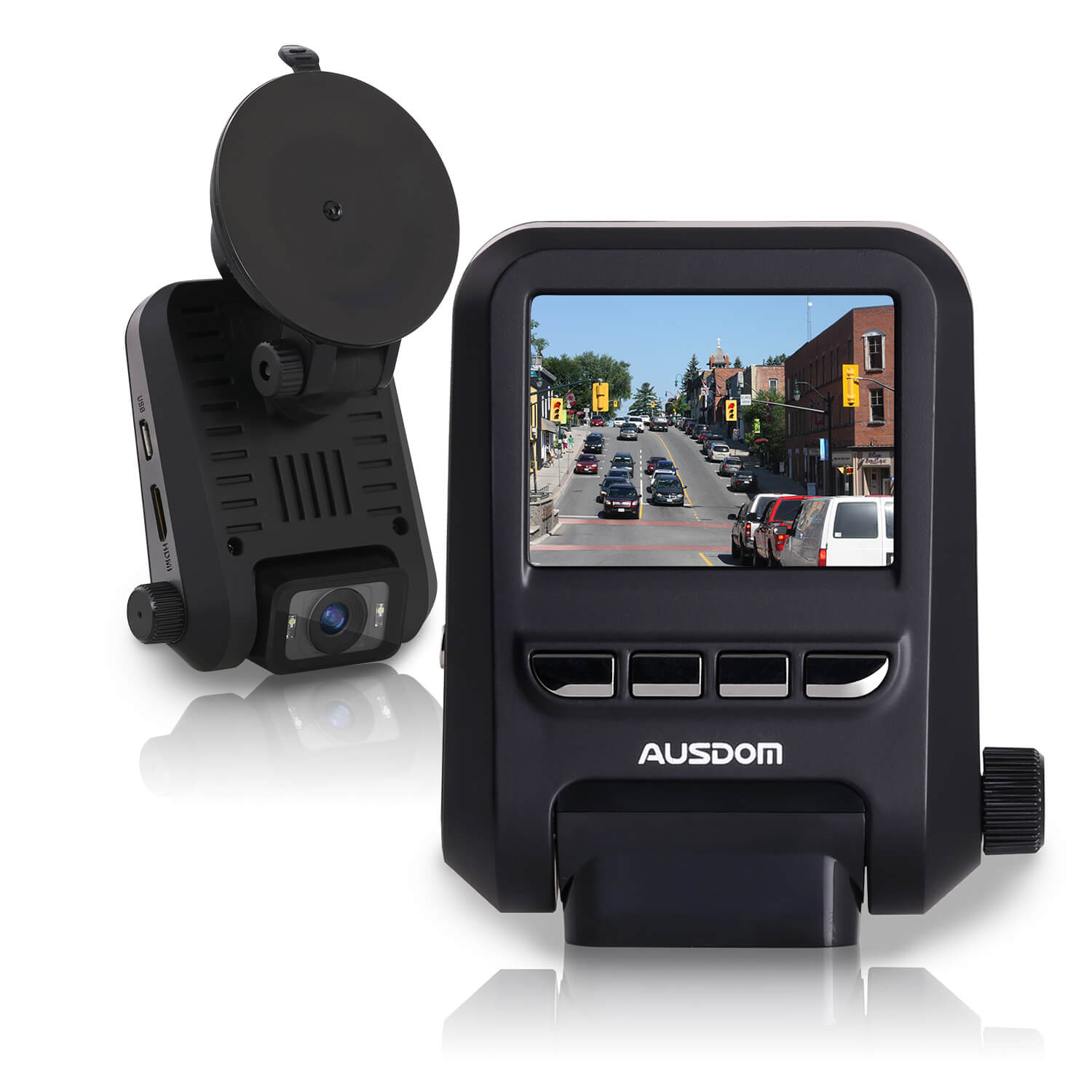 Ausdom AD118 Car Dash Cam 1080P with WDR Motion Detection and Loop Recording (Sell in USA Only)