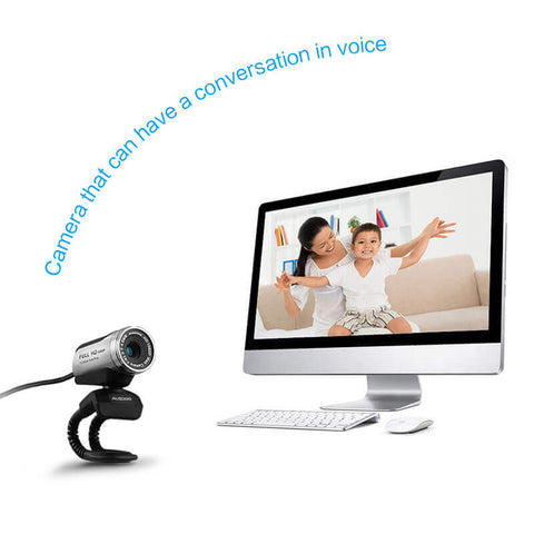 AUSDOM AW615 1080P PC WebCam 12MP with Built-in Mic