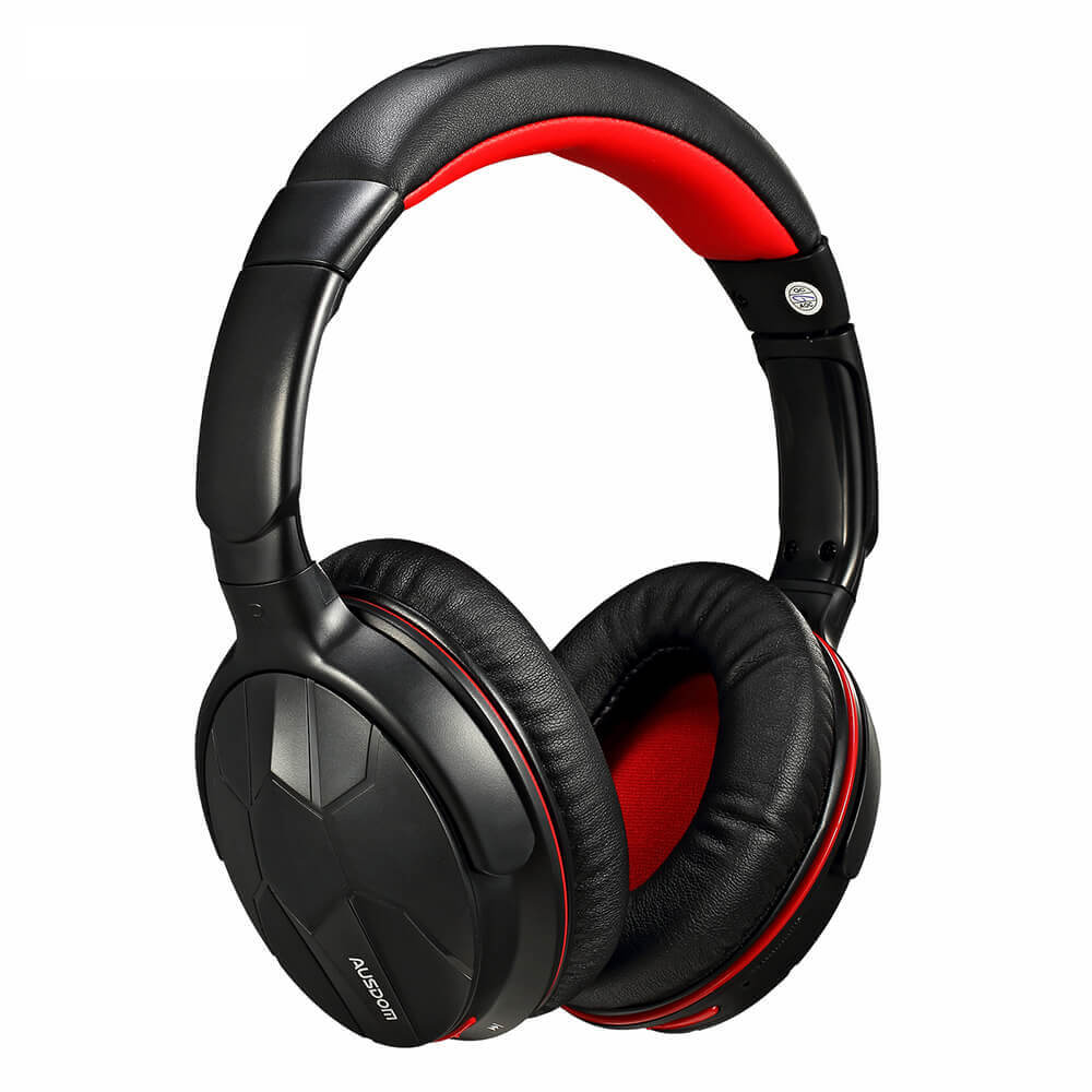AUSDOM M04S HiFi NFC Bluetooth 4.0 Over-ear Headphones - Black & Red (Sell in USA Only)