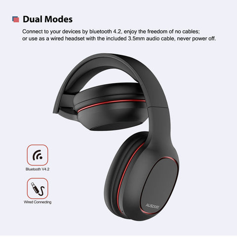 Ausdom M09 Over-Ear Stereo Bluetooth V4.2 Headphones