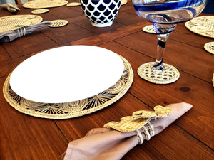 Iraca Palm Placemats with Coasters Wholesale