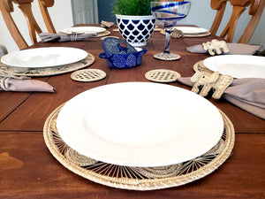 Iraca Palm Placemats with Coasters