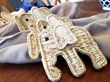 Load image into Gallery viewer, Iraca Handmade Elephant Napkin Rings Wholesale