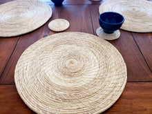 Load image into Gallery viewer, Iraca Palm Solid Placemats with Coasters