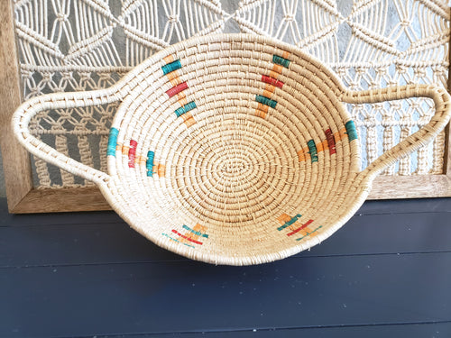 Iraca Basket Natural and Multicolor