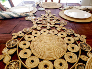 Large Iraca Palm Authentic Natural Table Runner Wholesale