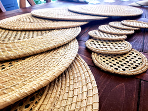 Iraca Palm Woven Placemats with Coasters Wholesale