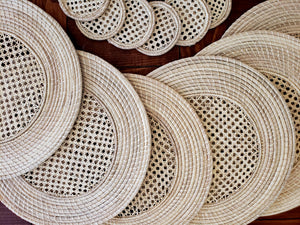 Iraca Palm Woven Placemats with Coasters