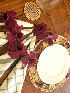 Iraca Handmade Orchids Napkin Rings Wholesale