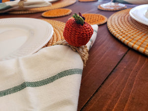 Tropical Fruits Iraca Handmade Colorful Napkin Rings Wholesale